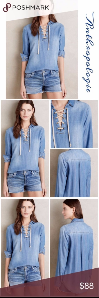 deim lace up shirt $88